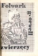 Orwell George: Folwark Zwierzęcy. bbb. Pies w garniturze, ręce w kieszeniach, na brzuchu: Londyn 1974 Odnowa - brązowy b.r. [1981] m-ws.pl